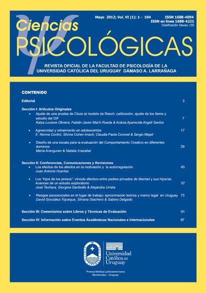 Ver 2012; Volumen 6 (1)