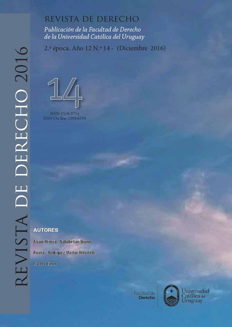 Revista de Derecho (UCUDAL) diciembre 2016