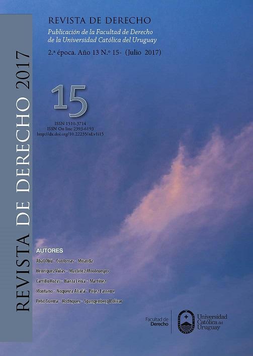 Revista de Derecho 15 (I-2017)