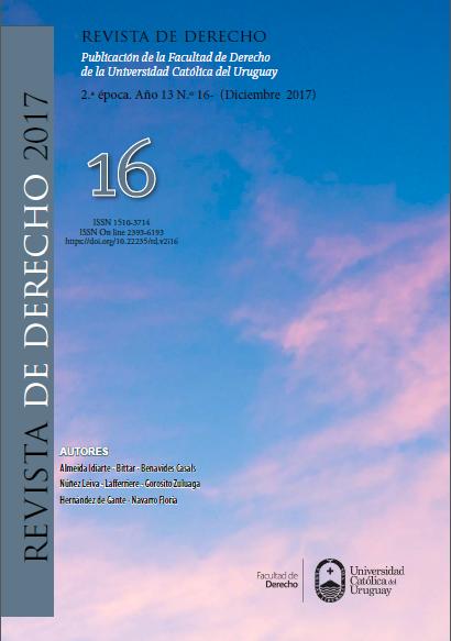 Ver Núm. 16 (2017): Revista de Derecho