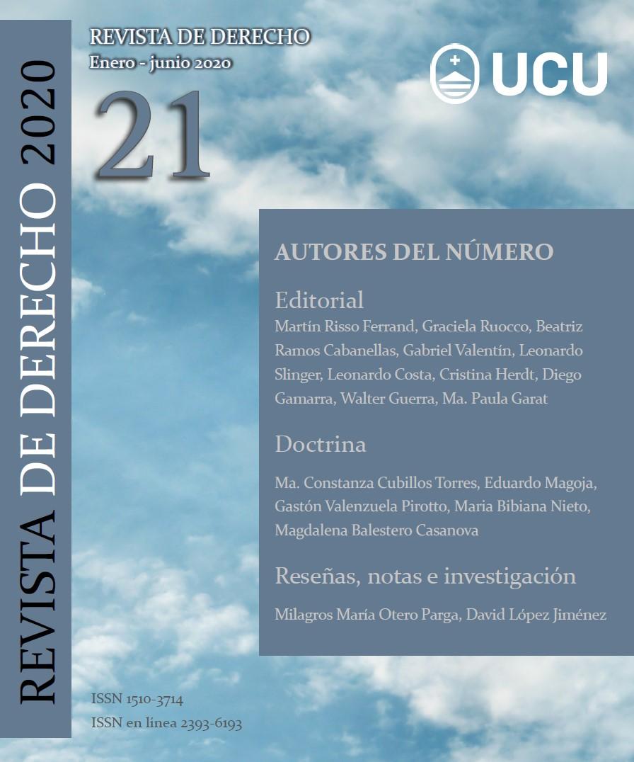 Ver Núm. 21 (2020): Revista de Derecho