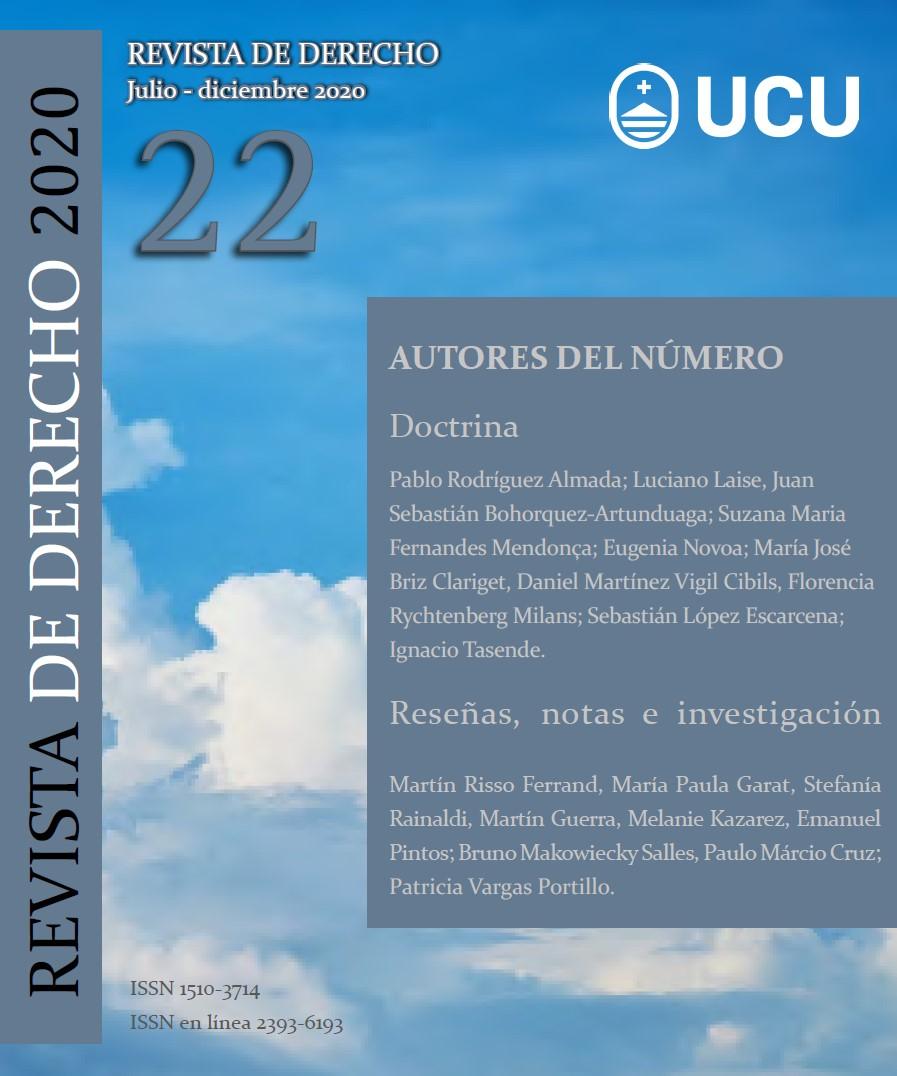 Ver Núm. 22 (2020): Revista de Derecho