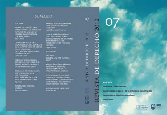 Ver Núm. 7 (2012): Revista de Derecho