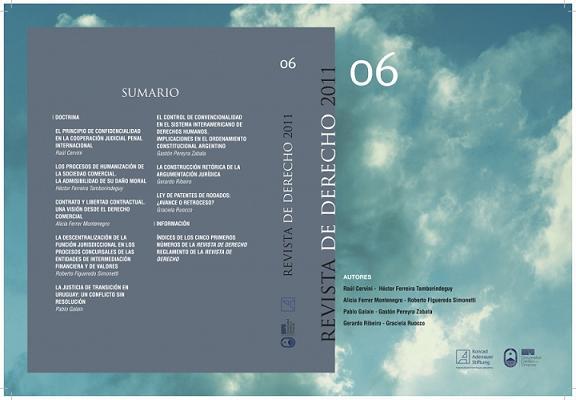 Ver Núm. 6 (2011): Revista de Derecho