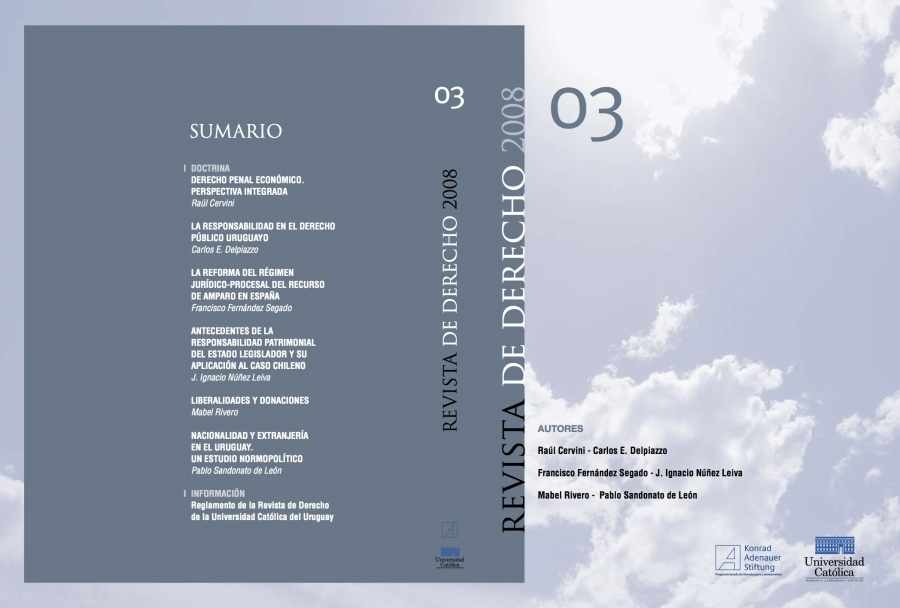 Ver Núm. 3 (2008): Revista de Derecho