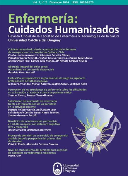 Ver Vol. 3 Núm. 2 (2014): Enfermería Cuidados Humanizados