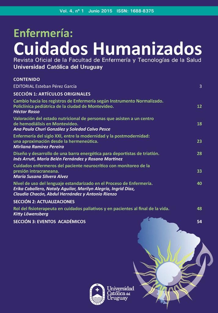 Ver Vol. 4 Núm. 1 (2015): Enfermería: Cuidados Humanizados