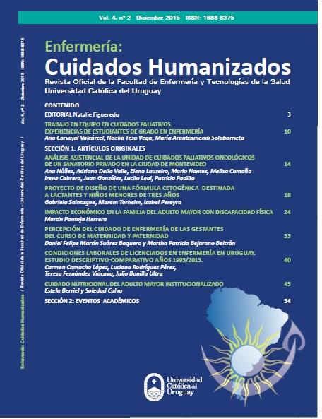 Ver Vol. 4 Núm. 2 (2015): Enfermería: Cuidados Humanizados