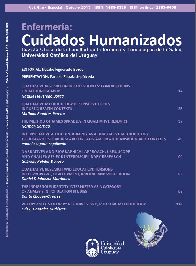 Ver Vol. 6 Núm. Especial (2017): Enfermería: Cuidados Humanizados