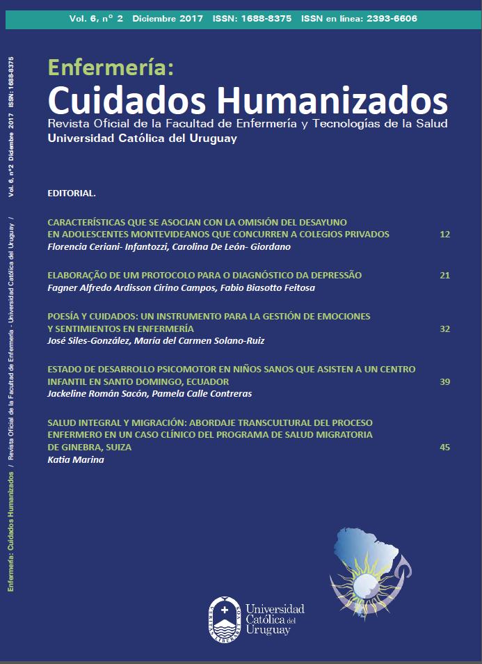 Ver Vol. 6 Núm. 2 (2017): Enfermería: Cuidados Humanizados