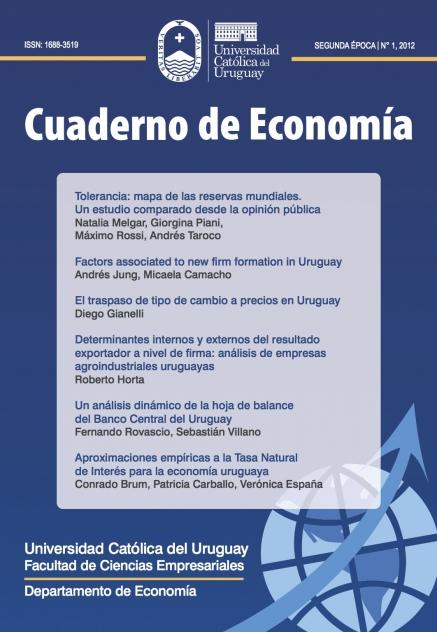Ver Núm. 1 (2012): Cuaderno de Economía - 2ª época