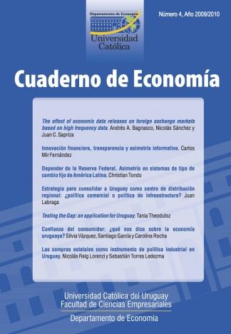 Ver Núm. 4 (2009): Cuaderno de Economía
