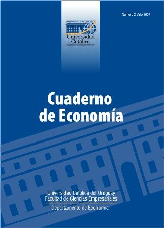 Ver Núm. 2 (2007): Cuaderno de Economía