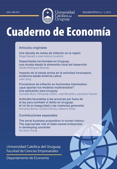 Ver Núm. 2 (2013): Cuaderno de Economía - 2ª época