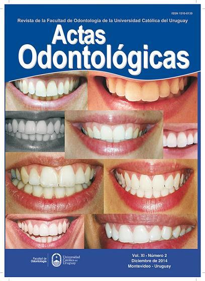 Ver Vol. 11 Núm. 2 (2014): Actas Odontológicas