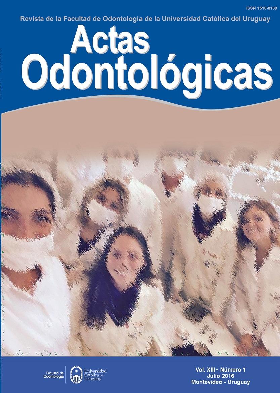 Ver Vol. 13 Núm. 1 (2016): Actas Odontológicas