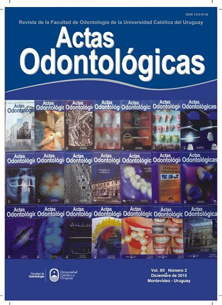Ver Vol. 12 Núm. 2 (2015): Actas Odontológicas