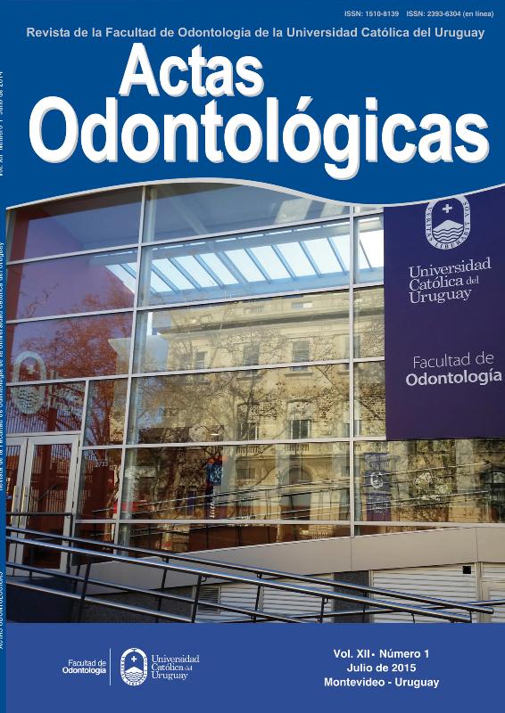 Ver Vol. 12 Núm. 1 (2015): Actas Odontológicas