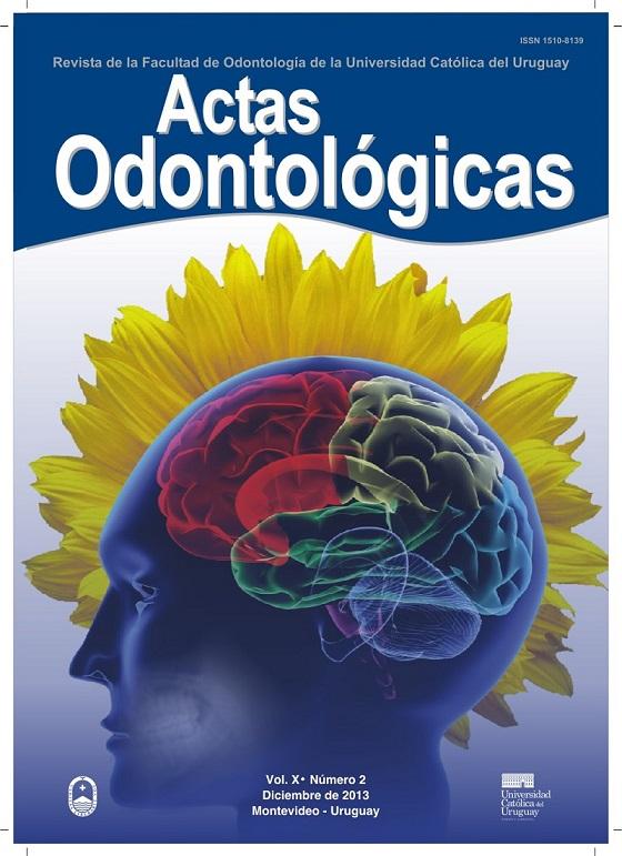 Ver Vol. 10 Núm. 2 (2013): Actas Odontológicas