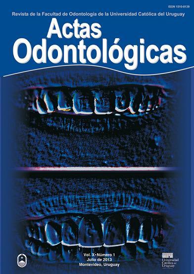 Ver Vol. 10 Núm. 1 (2013): Actas Odontológicas