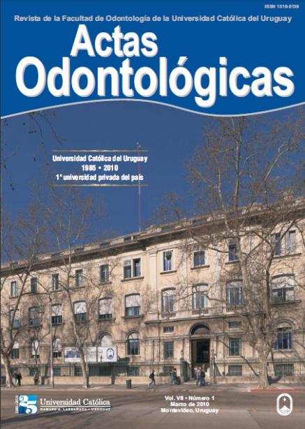 Ver Vol. 7 Núm. 1 (2010): Actas Odontológicas