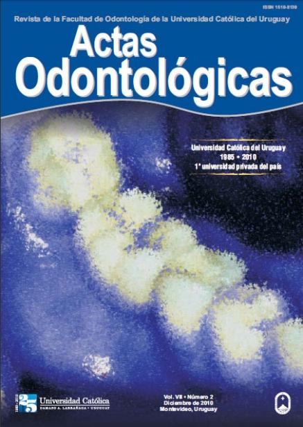 Ver Vol. 7 Núm. 2 (2010): Actas Odontológicas