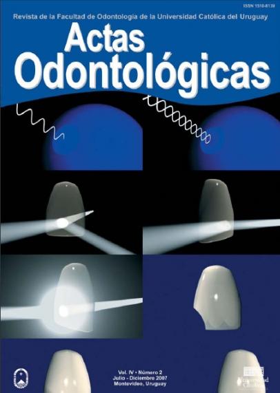 Ver Vol. 4 Núm. 2 (2007): Actas Odontológicas