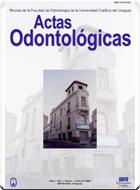 Ver Vol. 1 Núm. 1 (2004): Actas Odontológicas