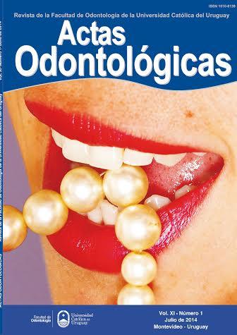 Ver Vol. 11 Núm. 1 (2014): Actas Odontológicas